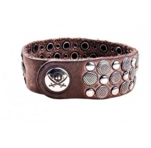Pirate Spirit Herren Armband 'n' rivets taupe PS-13.02.21.0