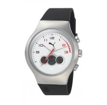 Puma Motorsport Red Zone Chrono Silver White Herrenuhr PU102791005