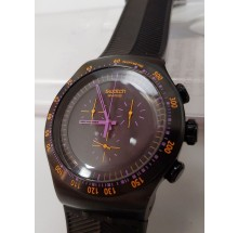 Swatch Chrono Black Collection Purple in Dark YOB102