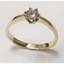 Damenring aus 585/- Gold Solitär Ring mit Brillant 080220solit