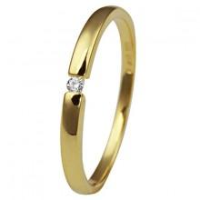 Damenring aus 585/- Gelbgold mit Brillanten 1-03585-51-0089g