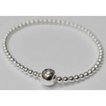 Damen Armreif flexible Kugelkette Silber 925/- 8.2133-w