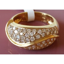 Damenring aus Gold mit Brillanten A2091