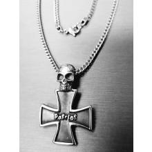 Patriot Kette Sascha B Edelstahlanhänger Kreuz SB1974