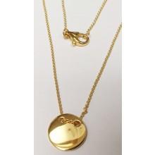 Damen Halskette mit Gravur-Anhänger Coin 925/- Silber 99038191450