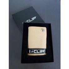 I-CLIP Geldbörse beige Leder ICRIbeige