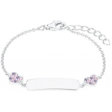Prinzessin Lillifee Mädchen ID-Armband Herzen Gravurband 2027208