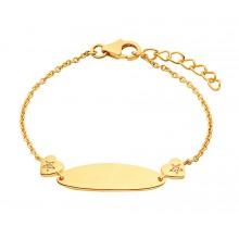 Prinzessin Lillifee Mädchen ID-Armband Herzen Gravurband Gold 2029683