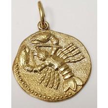 Goldener Anhänger Sternzeichen 585/- Krebs 06.1380.07