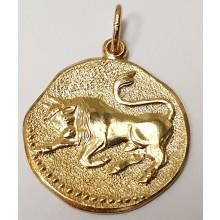 Goldener Anhänger Sternzeichen Stier 06.1380.03-Stier