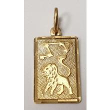 Sternzeichen Löwe Anhänger aus Gold 333/-  - 06.9815.03loewe