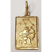Sternzeichen Schütze Anhänger aus Gold 333/-  - 06.9815.03.schut