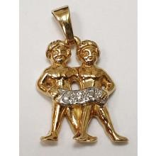Sternzeichen Zwilling Anhänger aus Gold 585/-  - 06.4145.07-zw