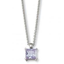 Esprit Damen Kette Square Light Purple Necklace 4324412