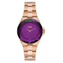 Storm London Crystana Rose Gold Purple Damenuhr 47254/P