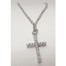 Damen Halskette mit Kreuz 925/- Silber 157-90-si