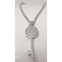 Damen Halskette mit Schlüssel 925/- Silber 157-117-w