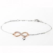 Damen Armband unendlich bicolor 65200292