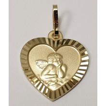 Taufe - Anhänger Gravurplatte Herz Schutzengel 333/- Gold 346-185163.300
