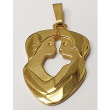 Goldener Anhänger Sternzeichen 585/- Gold Zwilling 62764-775-zw