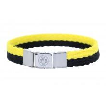 Borussia Dortmund Edelstahl Textil Armband BVB 09 16641900 69400833