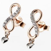 Damen Ohrringe unendlich Rosegold 8-06307-56-0089