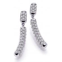 Damen Ohrhänger aus 750/- Weißgold mit Brillanten 8-06536-72-0068