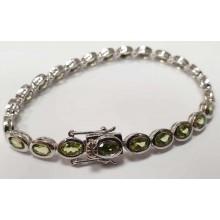 Damen Armband Peridot 925/- Silber 90024955