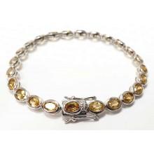 Damen Armband Citrin 925/- Silber 90024965
