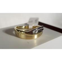 Goldener Damenring bicolor 910013R-56