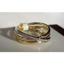 Goldener Damenring bicolor 910086R-56