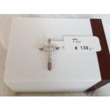 Kreuz Anhänger Weißgold 910167P