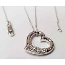Damen Halskette mit Anhänger Herz 925/- Silber 99002093450