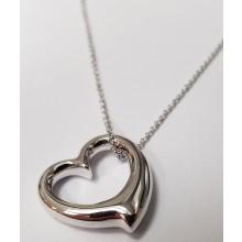 Damen Halskette mit Anhänger Herz 925/- Silber 99002193450