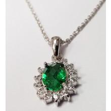 Damen Halskette mit Anhänger 925/- Silber 99014793450