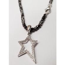 Damen Halskette mit Anhänger Stern Silber 99031993430
