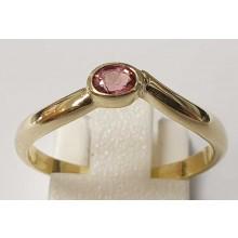Damenring aus 585/- Gold Solitär Ring mit rosa Turmalin B440119