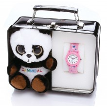 Cannibal Kinderuhr Set Kuscheltier Panda CJ24414