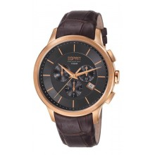 Esprit Collection Herrenuhr Crius Chrono Rose Gold Brown EL101961F04