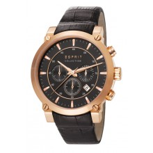 Esprit Collection Herrenuhr poros black rose gold EL102121F06