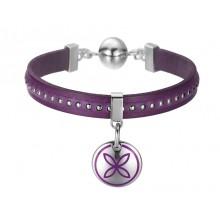 Esprit Damen Armband Thriving Flora Plum Purple ESBR11435C190