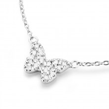 Damen Collier Schmetterling 925/- Silber 99008893450