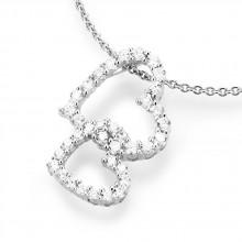 Damen Halskette Herzen 925/- Silber 99008993450