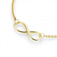 Damen Collier Infinity unendlich 925/- Silber vergoldet 99011591450