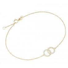Armband 2 Ringe Ankerkette 375/- Gelbgold 92013840195