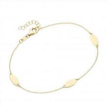Armband Navette Ankerkette 375/- Gelbgold 92018340200