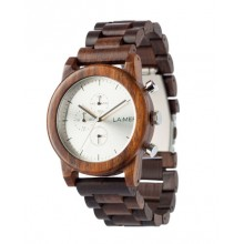 Laimer Uhr Peter Woodwatch Sandelholz Holzuhr Chronograph LM0061