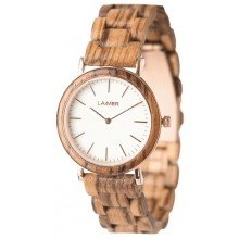 Laimer Woodwatch Marmo Leona LM0072 Holzuhr