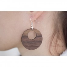 Laimer Wood Damen Ohrhänger Bianca aus Holz LMS0251