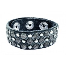 Pirate Spirit Unisex Armband 'n' rivets grey PS-13.01.19.0